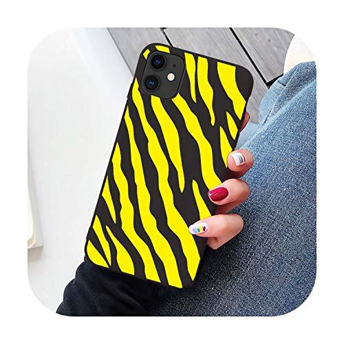 Colorido diseño de cebra de silicona suave para iPhone 11 Pro Max SE 2020 6 6s Plus 7 7plus 8 8plus XR XS MAX X Case amarillo patrón de cebra para iPhone 11