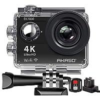 4K Ultra HD Action Kamera mit 170° Weitwinkel Linse. Videoaufnahmen mit bis zu 4K bei 25fps und 2.7K bei 30fps und 12MP Fotos mit bis zu 30 Bildern pro Sekunde für unglaubliche Fotos. Die Auflösung ist ca. 4x so hoch wie die von herkömmlichen HD-Kame...