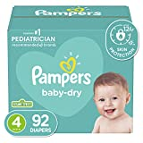 Diapers Size 4, 92 Count - Pampers Baby Dry Disposable Baby Diapers, Super Pack