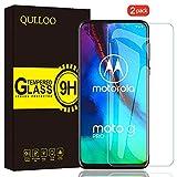 QULLOO Panzerglas für Moto G Pro / Moto G8 Power, 9H Hartglas Schutzfolie HD Bildschirmschutzfolie Anti-Kratzen Panzerglasfolie Handy Glas Folie für Motorola G Pro / Moto G8 Power