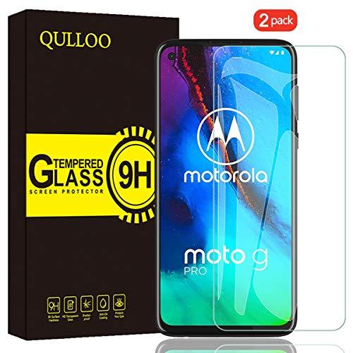 QULLOO Panzerglas für Moto G Pro, 9H Hartglas Schutzfolie HD Displayschutzfolie Anti-Kratzen Panzerglasfolie Handy Glas Folie für Motorola G Pro