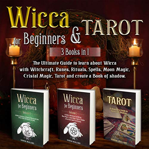 Wicca for Beginners & Tarot audiobook cover art