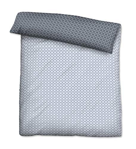 biberna 0636045 Mako-Satin Bettwäsche Mix & Match Bettbezug (Baumwolle) 1x 200x200 cm, niagara