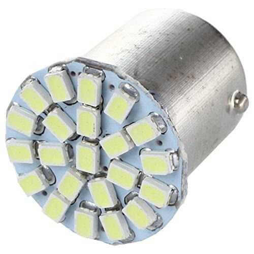 REFURBISHHOUSE 2 X 1156 Ba15s/P21W 1206 Ampoule Lampe SMD 22 LEDs Blanc 12V pour Voiture