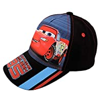 Disney Toddler Cars Lightning McQueen Character Cotton Baseball Cap, Black, Boys Ages 2-4