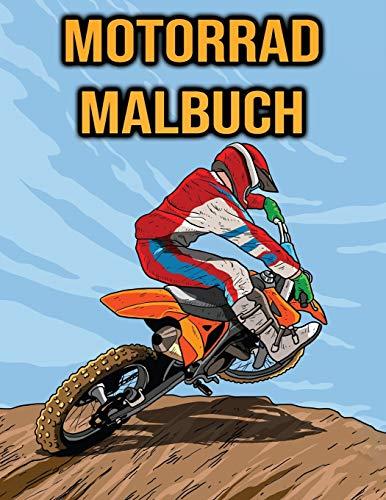 Motorrad Malbuch: für Kinder, Jungen, Erwachsene | Motocross Biker, Motorrad, Stunts...