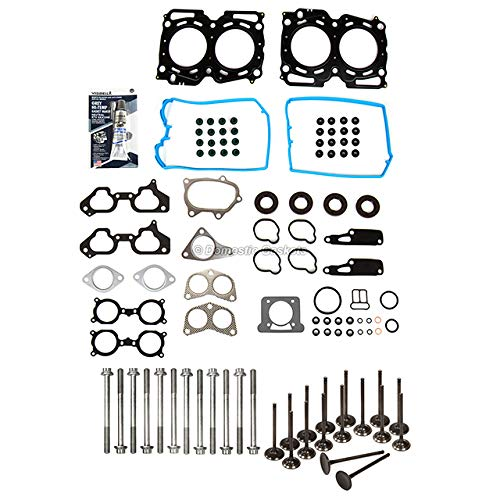 Domestic Gaskets DG-8614979794 Head Gasket Set Intake Exhaust Valves Compatible With/Replacement For 02-05 Subaru Impreza USDM 2.0L EJ20