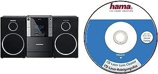Grundig GLR5150 MS 240 Design Micro Anlage (FM Tuner, MP3 Wiedergabe, USB, SD Karte) & Hama CD Reinigungsdisc (zur Beseitigung von Schmutz in CD Laufwerken) Laser Reinigungs CD