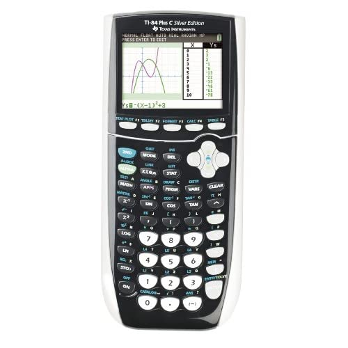 Texas Instruments TI-84 Plus C - Calcolatrice grafica a colori, edizione argentata