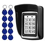 OBO HANDS Rfid Metal Access Control Keypad + Waterproof Cover+10pcs 125KHz Keychains