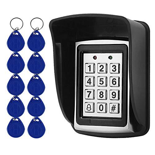 10 RFID-Keychians + Wasserdichter Regen Cover + RFID Metal Keypad unterst¨¹tzt 1000 User Wiegand-26-Schnittstelle (Input)