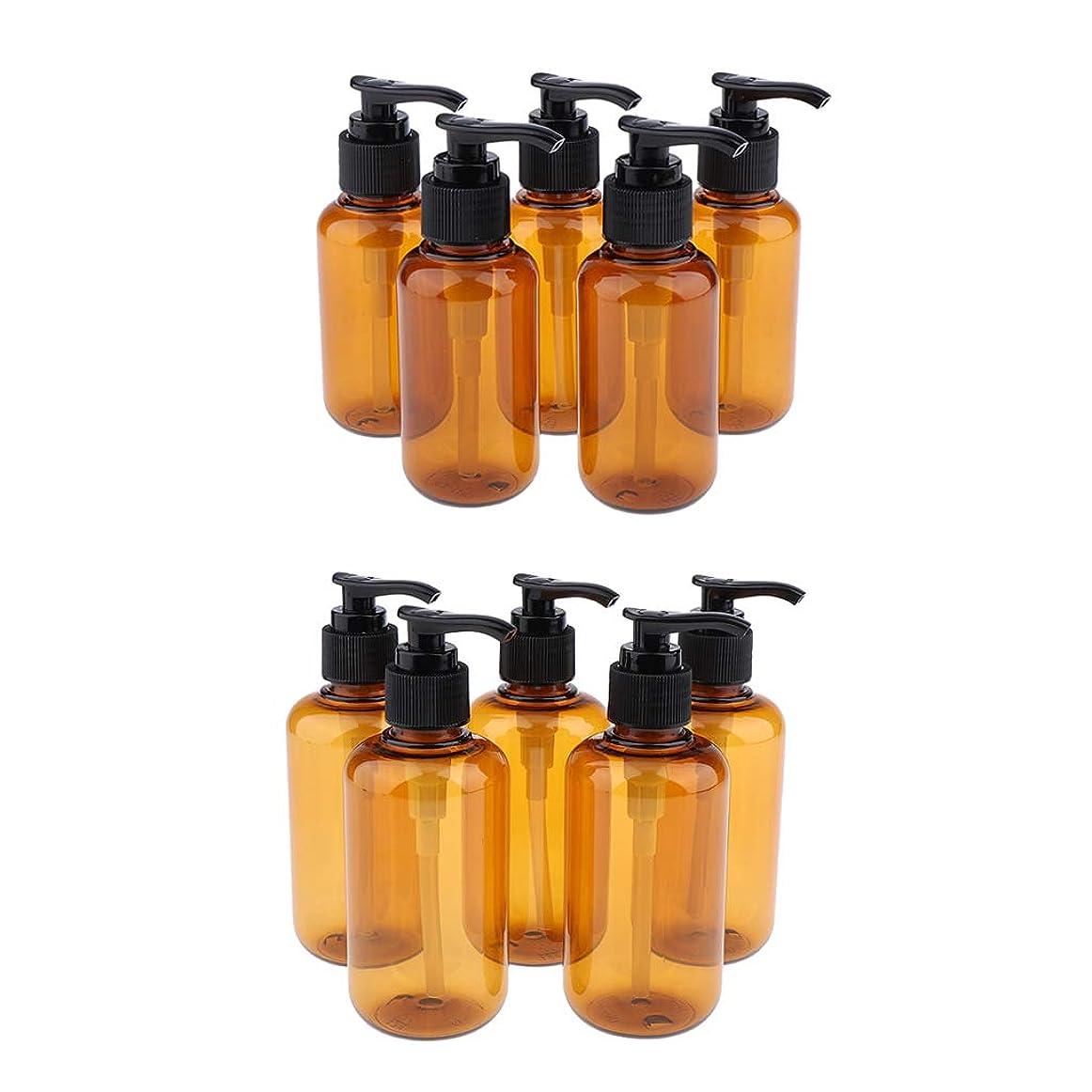 弱める発揮する自動的にP Prettyia 10個 空のポンプボトル シャンプーボトル ローションコンテナ 詰替え容器 空のボトル