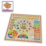Eichhorn 100005457 - Steckpuzzle Kalenderuhr 30x30cm, unterschiedliche Steckmöglichkeiten, Wand...