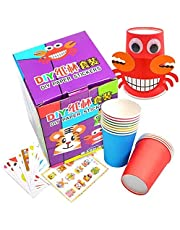 Crafts Paper Cups Art Kit Kids Crafts Art Toys DIY Crafts Toys for Kids Children 12 pcs Paper Cup and 12 pcs Stickers, learning toy (Model A)