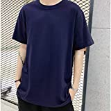 DYXYH Trendy Men T Shirt Casual Manga Larga Delgada Slim Tops Básicos Summer Stretch T-Shirt Mens Ropa (Color : E, Size : Medium)