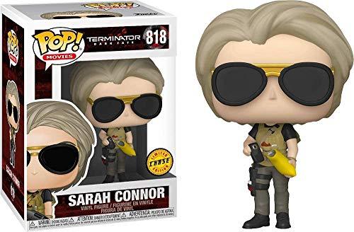 Sarah Connor (Chase): Funko Pop! Figura de Vinilo de películas Terminator 818 + Protector Pop Ultimate Guard