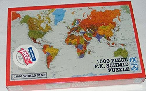 World Map 1996 by F.X. Schmid