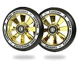 ROOT INDUSTRIES 110mm Turbine Wheels - Black Urethane (Pair) (Black/Gold Rush)