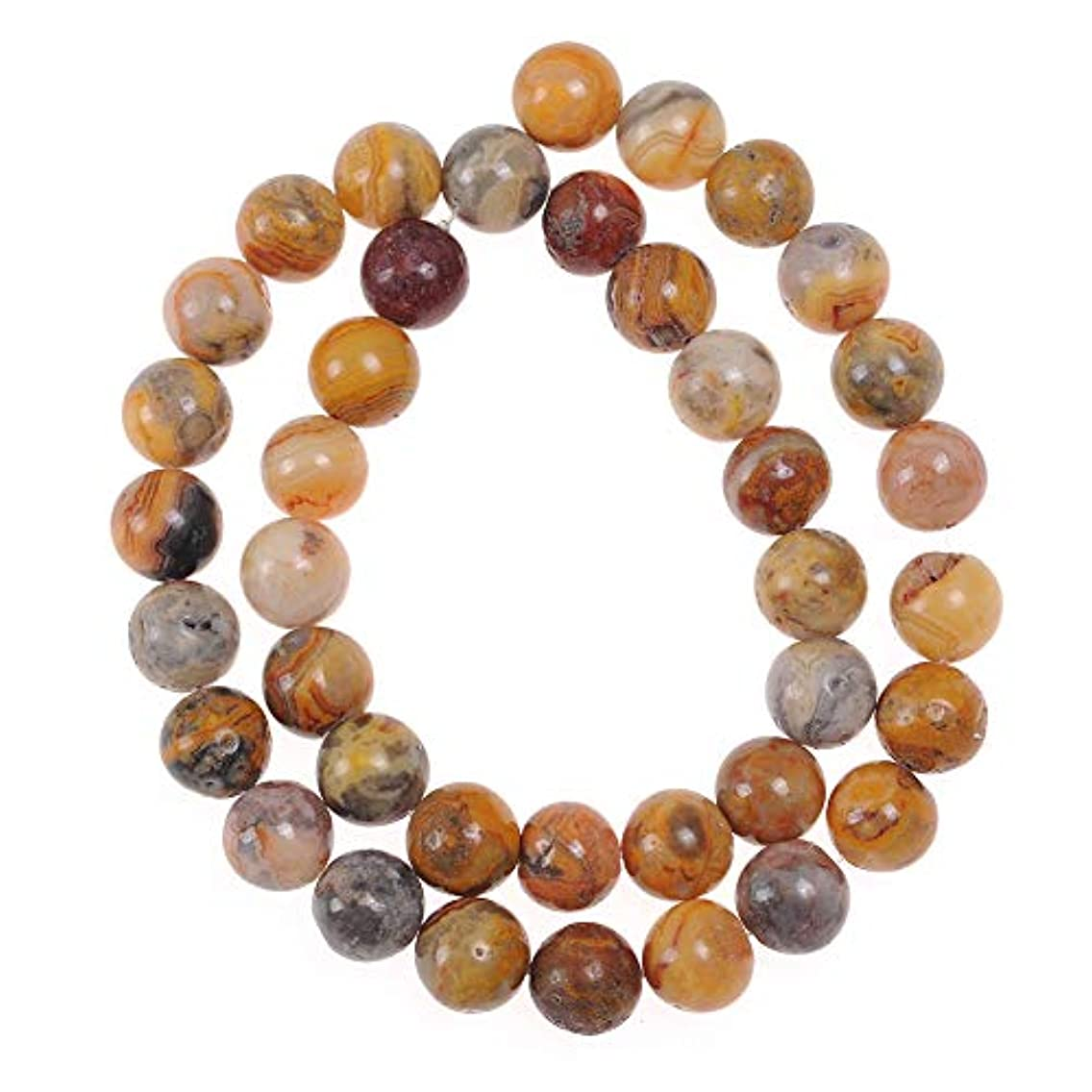 45pcs 8mm Crazy Lace Agate Beads for Jewelry Making Adults Bracelets Necklace Natural Stone Beads for Handmade Jewellry