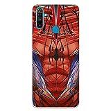 Funda para Realme C3-6i - 5i Oficial de Marvel Spiderman Torso para Proteger tu móvil. Carcasa para Realme de Silicona Flexible con Licencia Oficial de Marvel.