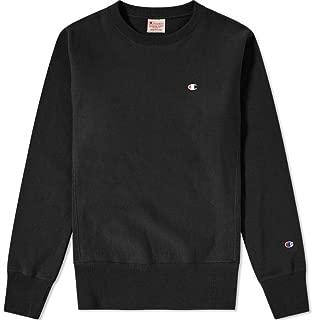 Europe Reverse Weave Men's Classic Crew Sweatshirt - Black