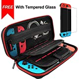daydayup Hestia Goods Switch Case and Tempered Glass Screen Protector for Nintendo Switch - Deluxe Hard Shell...
