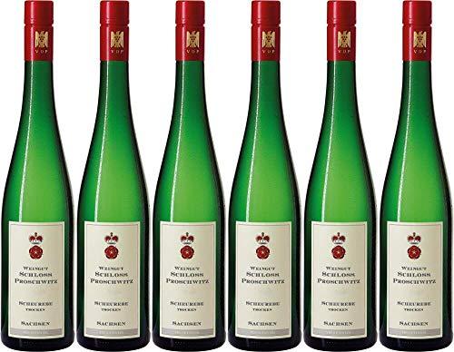 6x Schloss Proschwitz Meissener Scheurebe Ortswein 2019 - Weingut Schloss Proschwitz, Sachsen - Weißwein