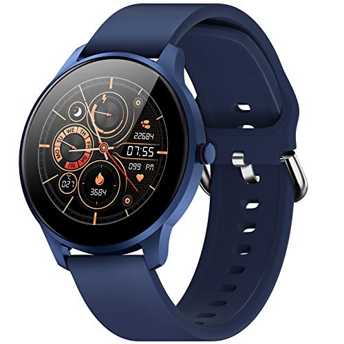Smart Watch for Android iOS Phone Compatible with iPhone Samsung, CUBOT W03 IP68 Waterproof Swimming Fitness Tracker, Heart Rate Monitor Smartwatch, Fitness Watch Smart Watches for Women Men, Blue