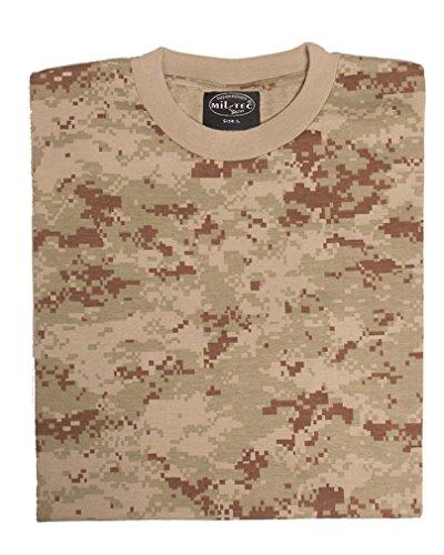 Mil-Tec US Army T-Shirt Camouflage léger (Digital Desert/M)