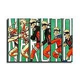 Póster de Naruto con diseño de anime y decoración de pared