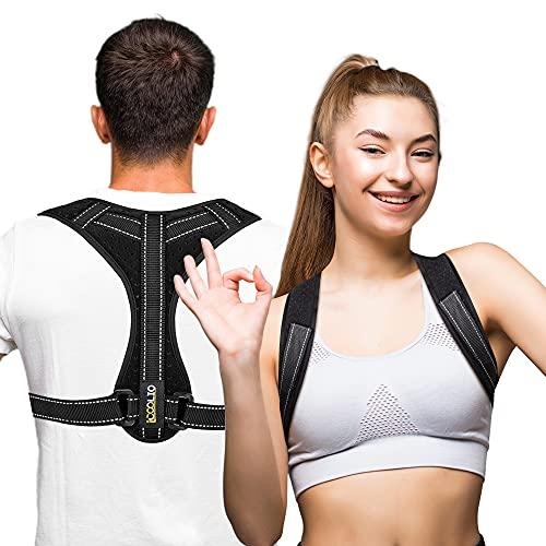 iCOOLIO Rücken geradehalter für damen und herren, rückengurt, rückenstütze, schultergurt haltungskorrektur, rückenstabilisator, posture corrector, gerader haltungstrainer, ruckenhalterung korrektur