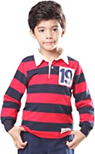 Gotend Unisex Big Boys' Raglan Baseball Jersey T-Shirts Kids Polo Shirt, 3-13 Years