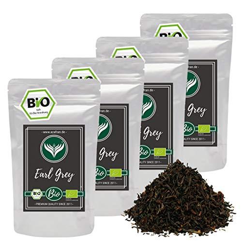 Azafran BIO Earl Grey Schwarzer Tee - Darjeeling Schwarztee mit Bergamotte Öl lose 1kg