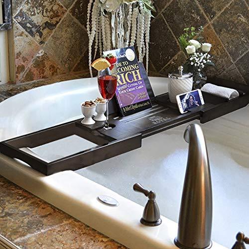 Badkuip Caddy houten plank douche bureau lade uitbreidbare beugel