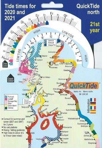 QuickTide north: Tide times for 2020 and 2021:  21st year (QuickTide  (or mis-spelled: Quick Tide))