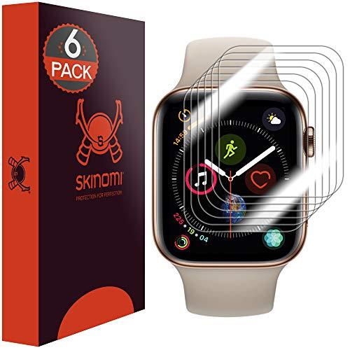 Skinomi TechSkin, Pellicola Protettiva Compatibile con Apple Watch Series 4-44 mm.Idrorepellente, Confezione da 6