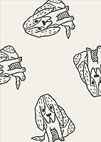 igsticker ポスター ウォールステッカー シール式ステッカー 飾り 841×1189㎜ A0 写真 フォト 壁 インテリア おしゃれ 剥がせる wall sticker poster 010699 犬 動物 イラスト