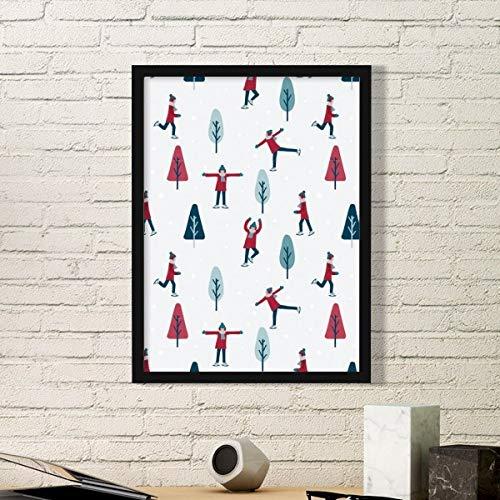 DIYthinker Kleurrijke Sport Skateboard Skiën Illustratie Eenvoudige Foto Frame Kunst Prints Schilderijen Thuis Muursticker Gift