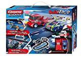 Carrera GO!!! Build 'n Race Rennstrecken-Set für Kinder ab 6 Jahren & Erwachsene I 4,9m Rennbahn mit 2 Handreglern & Looping I kompatibel mit anderen Baustein-Herstellern I Geschenke zu Weihnachten