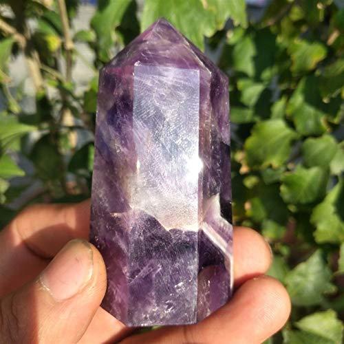 55g Naturlig fantasi ametist kristall kvartsstav piont obelisk