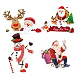 ABOOFAN Christmas Light Switch Sticker Removable Wall Decal for Christmas Home Party Decoration 4Pcs