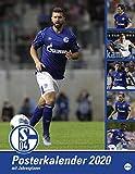 Schalke 04 Posterkalender. Wandkalender 2020. Monatskalendarium. Spiralbindung. Format 34 x 44 cm