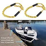 DishyKooker - Juego de 2 cuerdas elásticas para barco, barco, barco, kayak, hidroavión, autoaccesorio