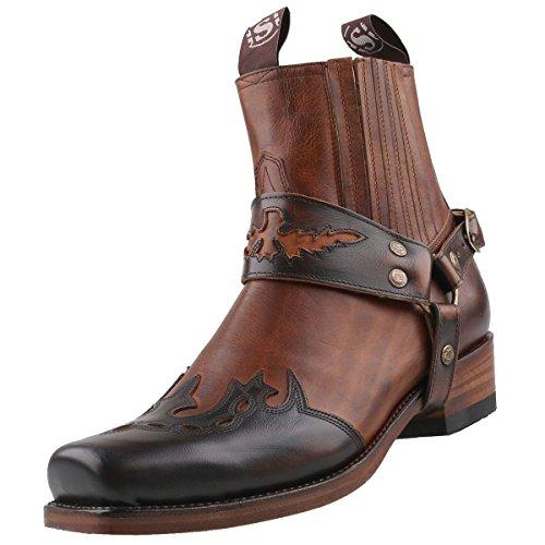 Sendra Cowboy Stiefelette 7811 Braun, Schuhgröße:EUR 45