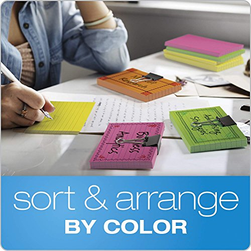 """Oxford Neon Index Cards, 3"""" x 5"""", Ruled, Assorted Colors, 100 Per Pack, Sold as 5 Pack, 500 Cards Total (40279) Photo #6"""