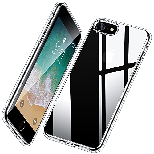Vakoo Silikon Hülle für iPhone 7/8/SE 2020 Hülle, Dünn Transparent Schutzhülle Handyhülle für iPhone SE 2020 Hülle/iPhone 8 Hülle/iPhone 7 Hülle, Durchsichtig