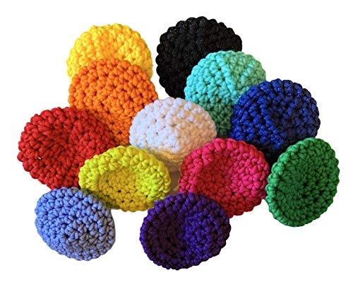 Handmade Nylon Kitchen Scrubbers - Pot Scrubbers - Sponge - Scouring Pad - Reusable - Scrubbies - set of 3 - double thickness - large