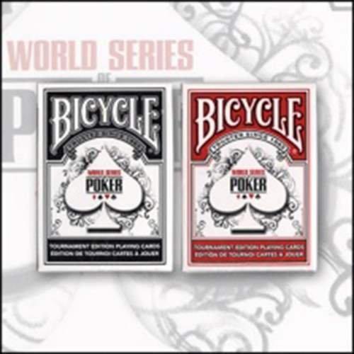 SOLOMAGIA Mazzo di Carte Bicycle WSOP World Series Poker Tour dorso rosso - Mazzi Bicycle - Carte da gioco - Giochi di prestigio e Magia