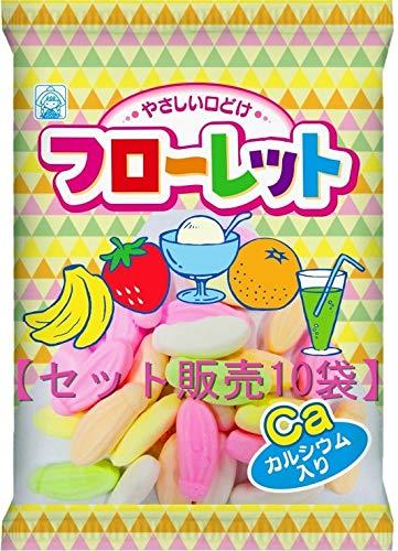 【セット販売】竹下製菓 フローレット 60g×10袋