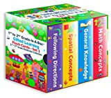 TestingMom.com 1st to 2nd Grade-In-A-Box - Gifted Learning Flash Cards Bundle - Knowledge, Following Directions, Math, Spatial Concepts - Gifted and Talented Test Prep for Grade 1-2 CogAT, OLSAT, NNAT